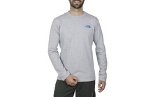 THE NORTH FACE Men's L/S Classic Logo Tee heather grey